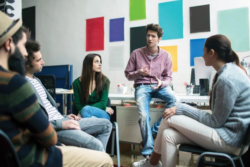 Postgraduate students meeting