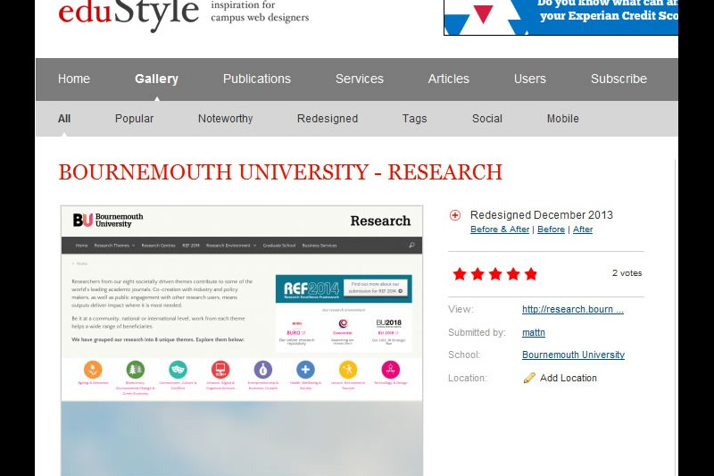 BU research website