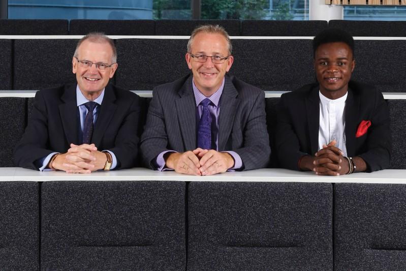 Professor Richard Conder, Professor John Vinney, Daniel Asaya
