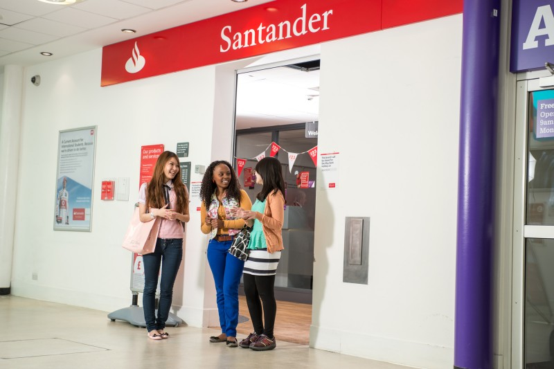 International student outside Santander