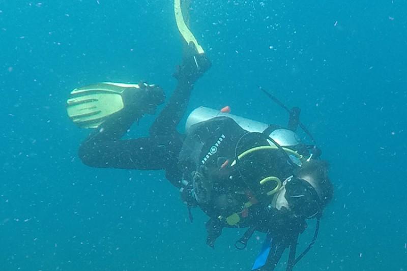 Zach scuba diving