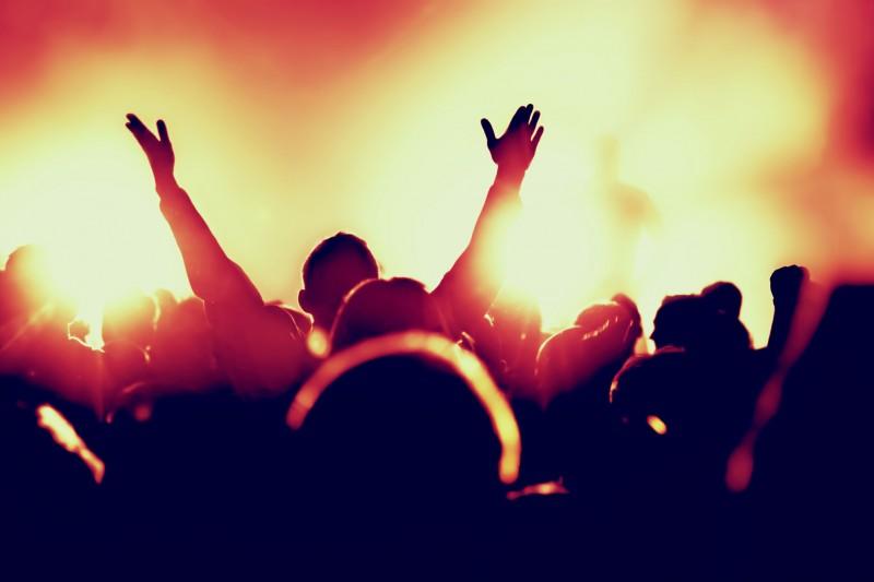 Crowd at a gig
