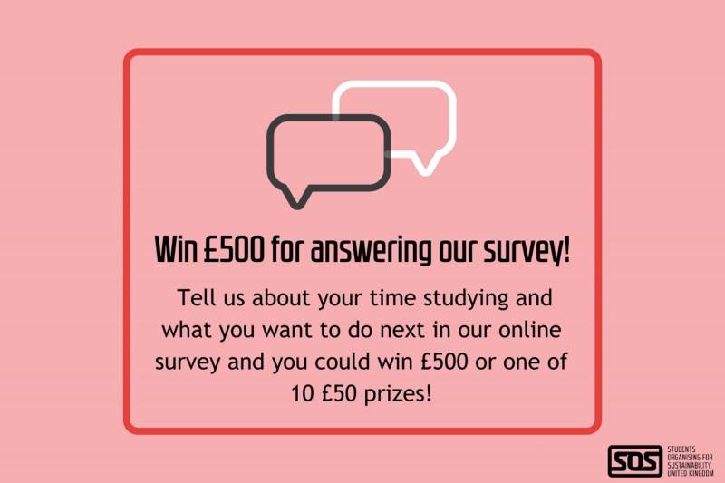 Take part in the NUS-SOS Skills Survey for the chance to win £500