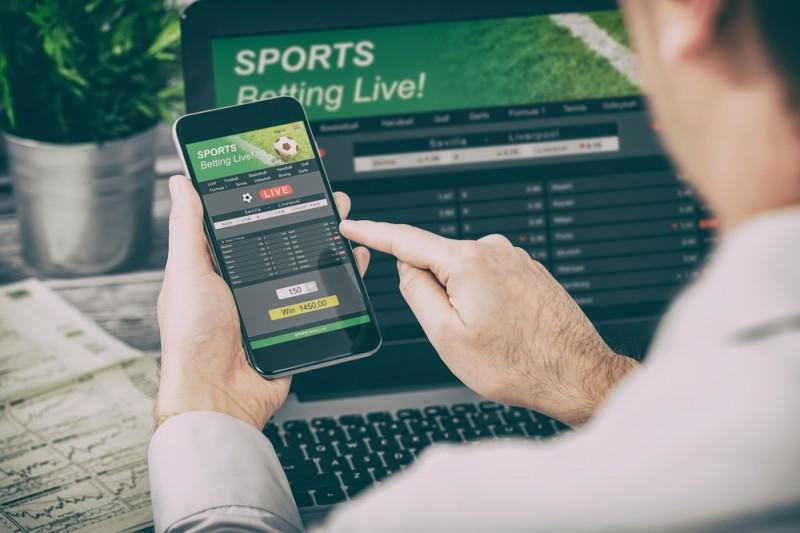 A man betting online