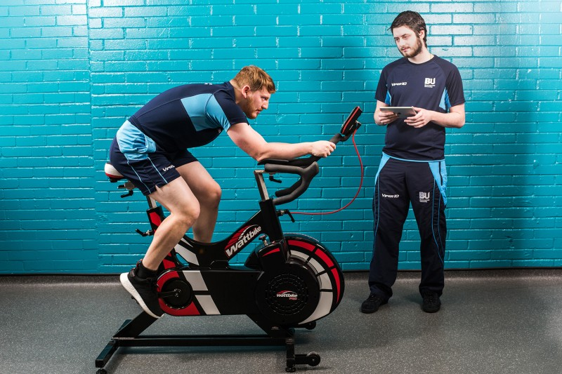 A cycle ergometer