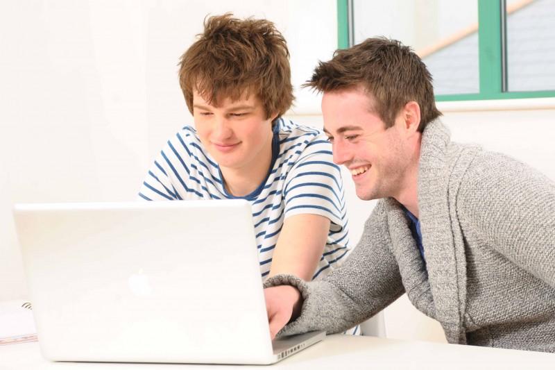 stock students at computer image