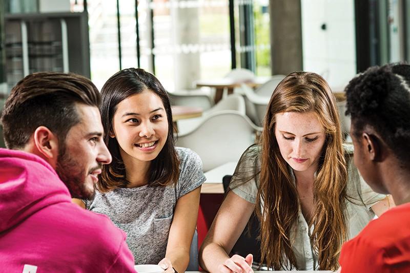 Students at BU