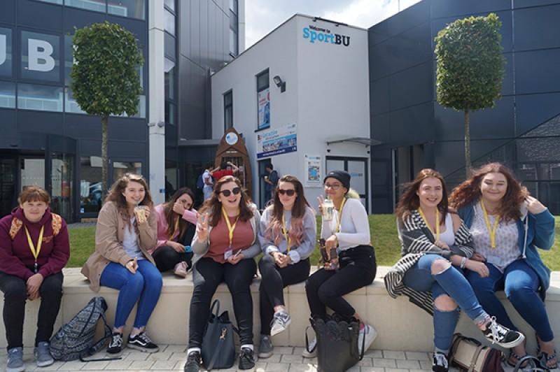 Summer Break group shot in Talbot Campus courtyard