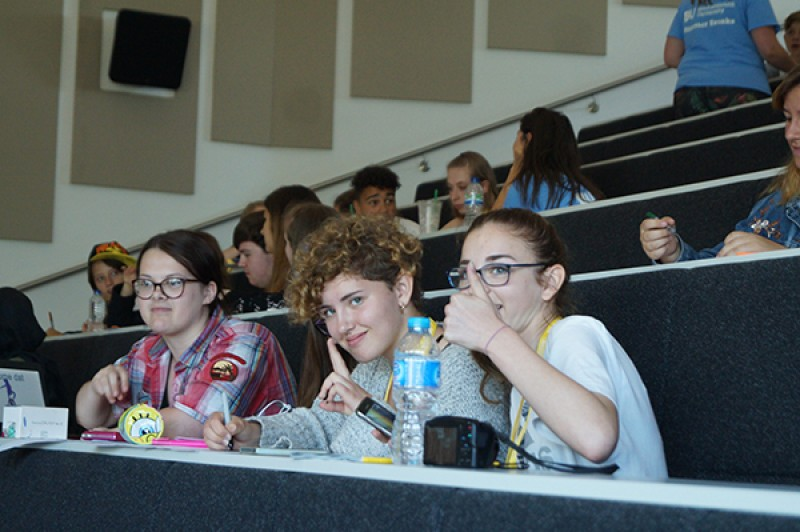 Summer Break students in a lecture theatre
