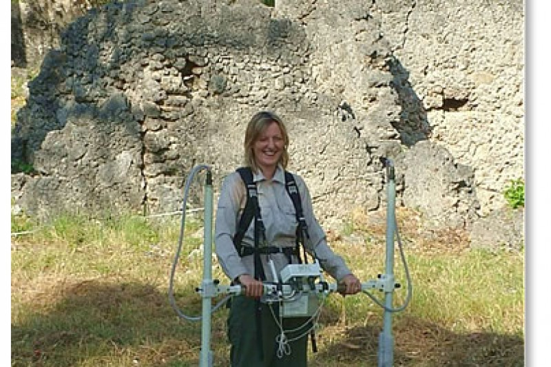 Surveying ruined 13th Century town of Songo Mnara