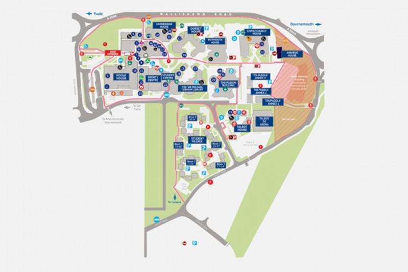 Talbot Campus map