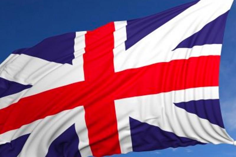 British and Chinese flags