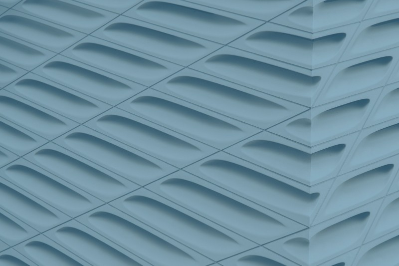 A series of ridges on a plastic surface