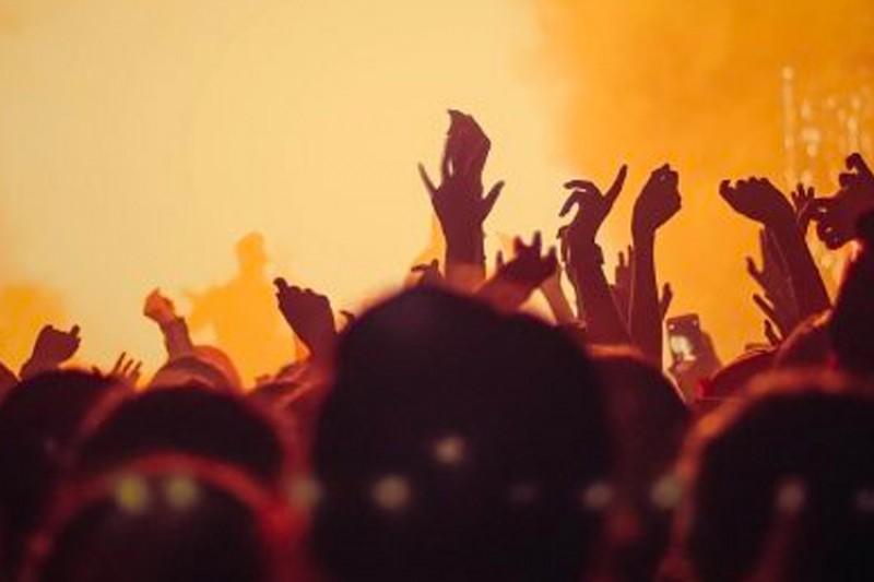 A busy concert venue
