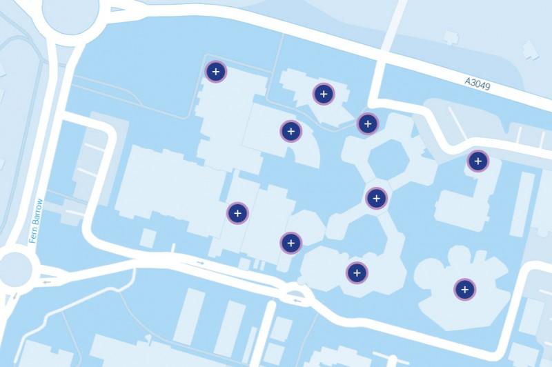 Virtual tour map of talbot