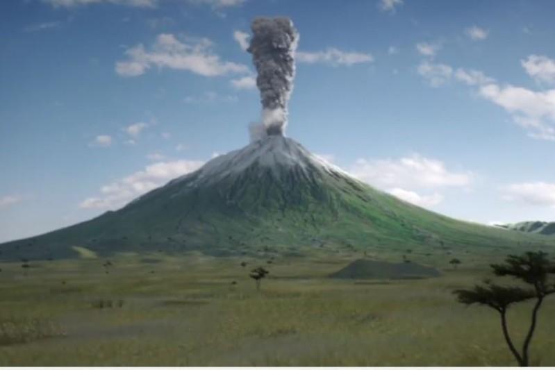 Volcanic animation