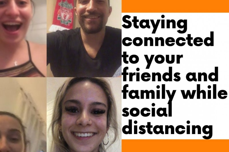A preview screen from student Yasmin's vlog, 'Staying connected to your friends and family while social distancing'