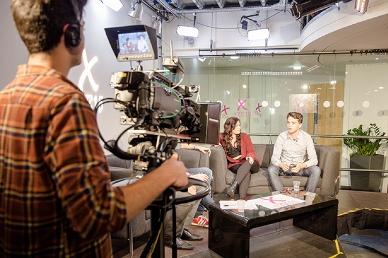 BU students filming and appearing in 'Your Election 2015', which provided live coverage of the 2015 UK General Election.