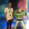 Ben on placement, pictured with Buzz Lightyear statue
