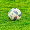 A football on some grass
