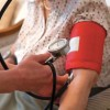 Blood pressure being taken