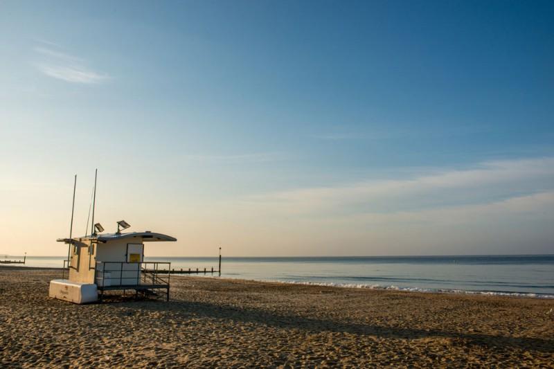 Lifeguard hut on Bournemouth beach