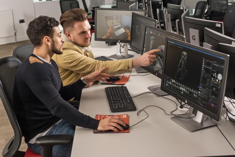 Games design students