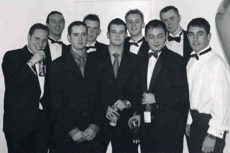 Anthony and friends at the 2001 Freshers Ball