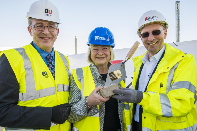 Topping out ceremony at Bournemouth Gateway Building with Kate Adie