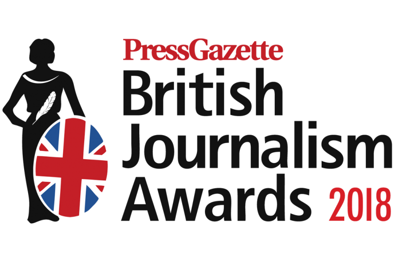 British Journalism Awards 2018 logo