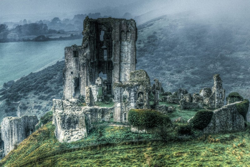 Rehan Zia artwork - Corfe Castle