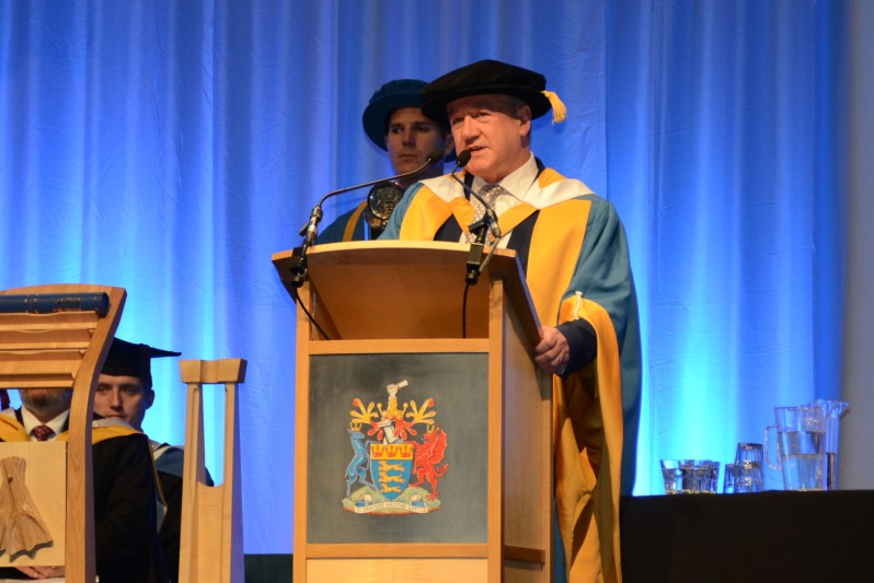 Allan Little honorary doctorate