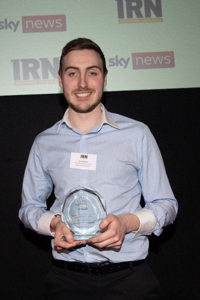 Dave Wheeler with IRN Award