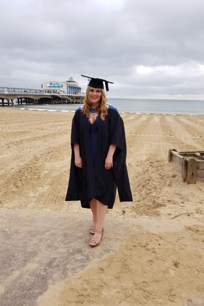 Ellie Blackford BU BSc (Hons) Psychology graduate