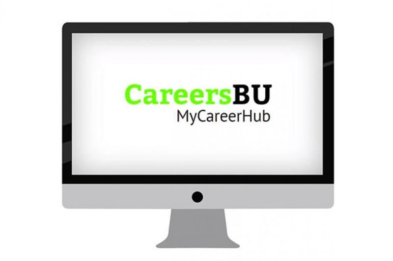 MyCareerHub logo on screen