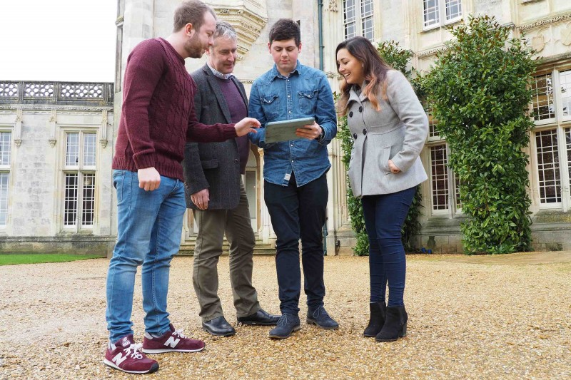Highcliffe Castle students