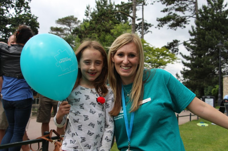 Genna West with young FoL visitor