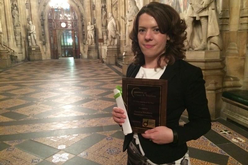 PhD student winner Zornitza Yovcheva