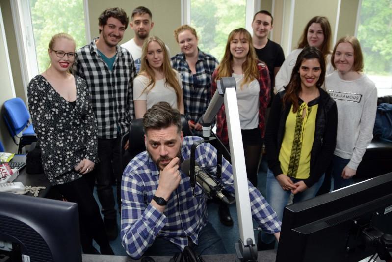 Iain Lee visits Radio Production students