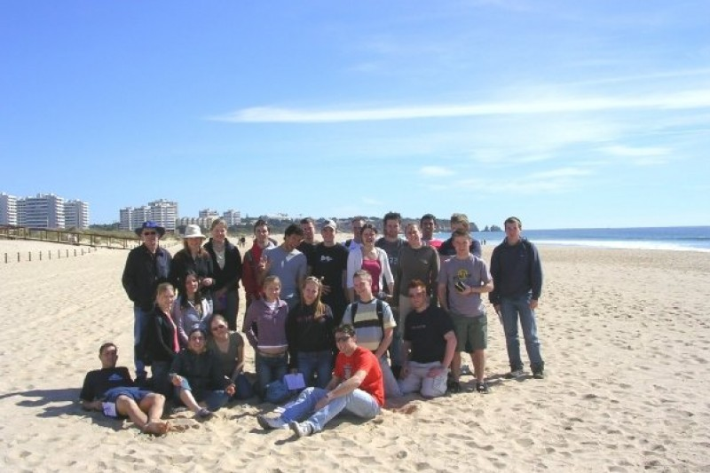 Kim and fellow students on a field trip in Portugal