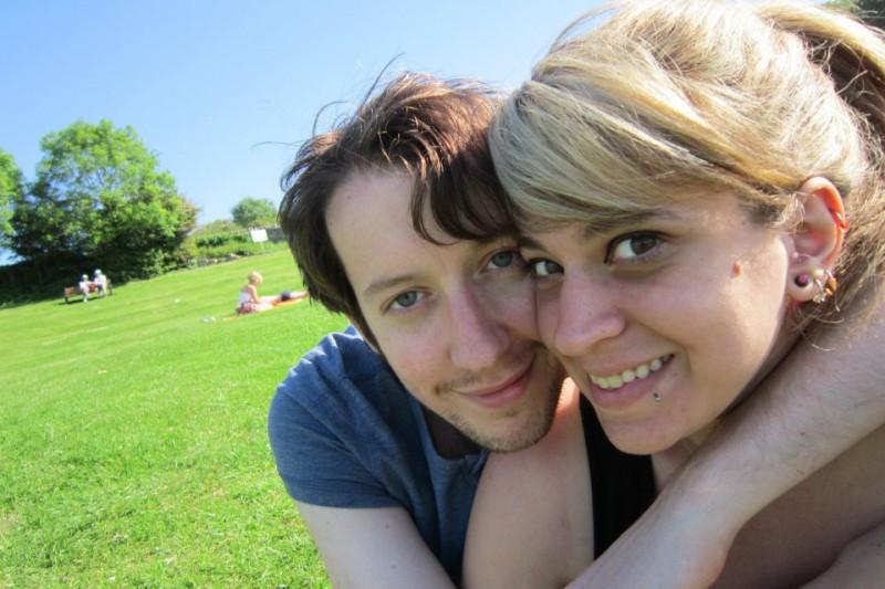Lauren and Rupert in the park