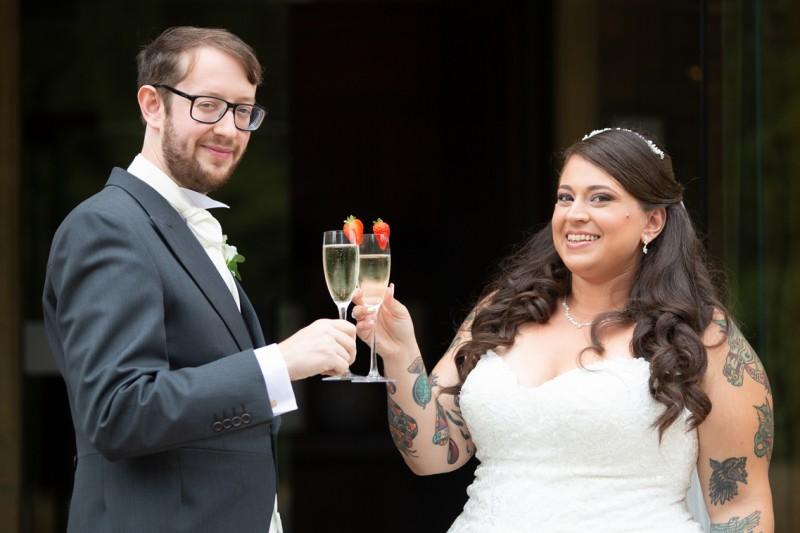 Lauren and Rupert at their wedding