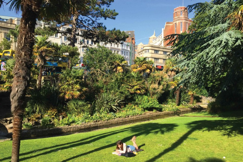 Bournemouths relaxing Lower Gardens