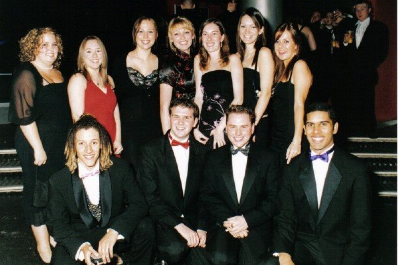 Marcos and friends at the 2005 Freshers Ball