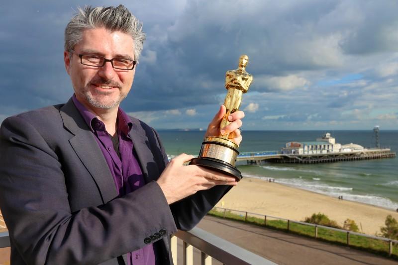 Mark Ardington with Oscar