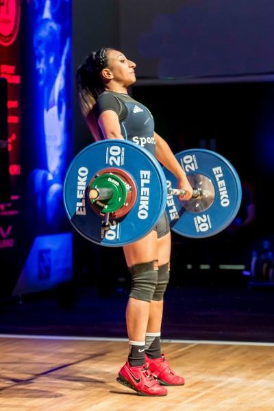 Noorin Gulam weightlifting