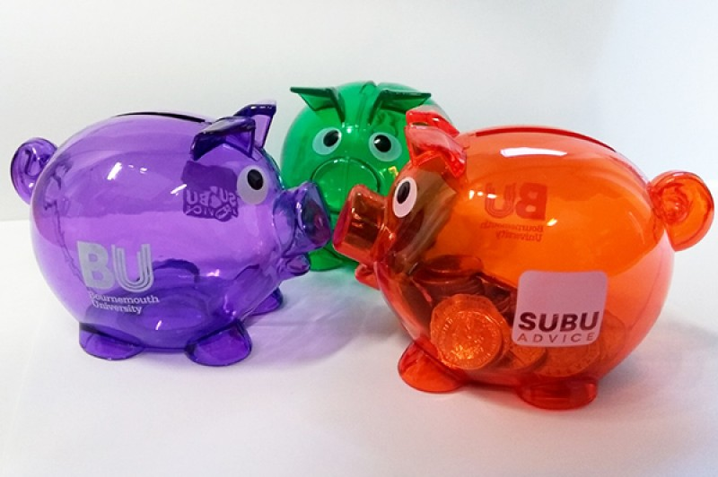 National student money week piggy banks