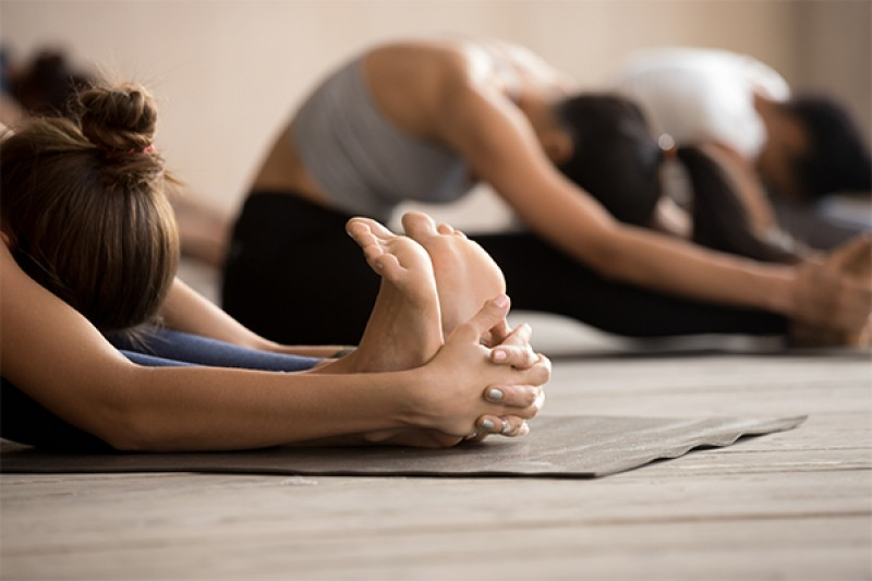Image of a people doing Pilates