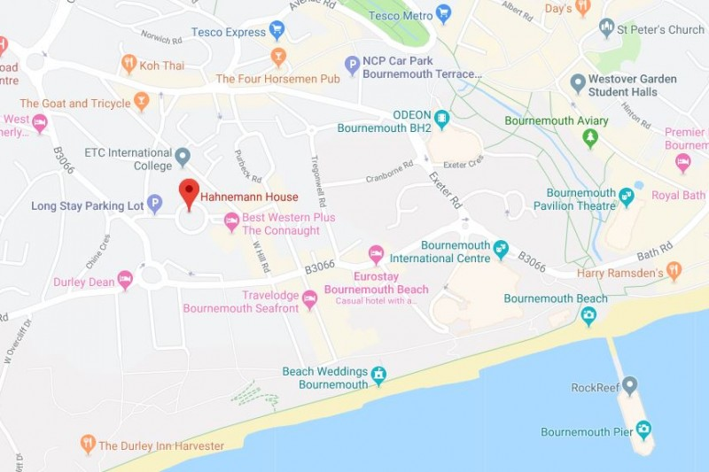 map of The Retreat Bournemouth