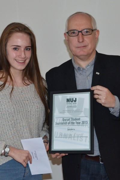 NUJ student journalist award